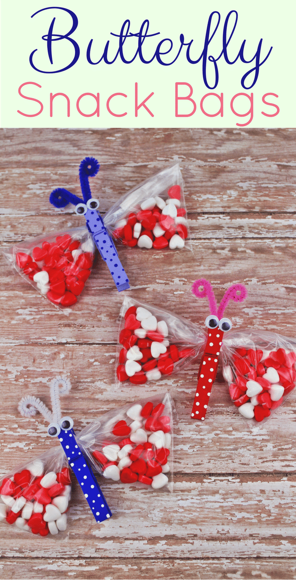 Butterfly Clothespin Craft Ziploc Bags