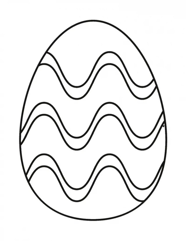 Easter Egg Coloring Page FREE Printable for Kids
