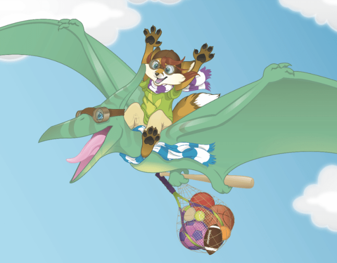Trixie and the Pteranodon - Detailed Illustration