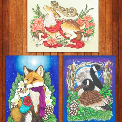 Three-pack Christmas prints Preview