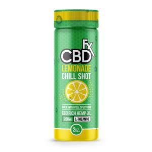 A 2-ounce Bottle Of Lemonade Chill Shot CBD Drink by CBDfx