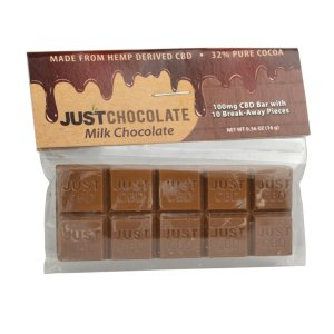 A pack of CBD Chocolate Bar from Just CBD