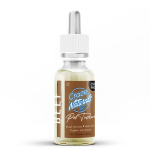 1 bottle of Beef CBD Oil for Dogs by Craze Naturals