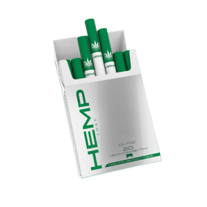 A pack of Hemp Toke pre rolled hemp cigarettes