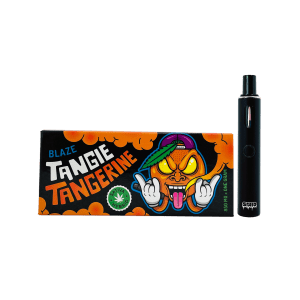 a pack of blaze tangie tangerine delta 8 disposable