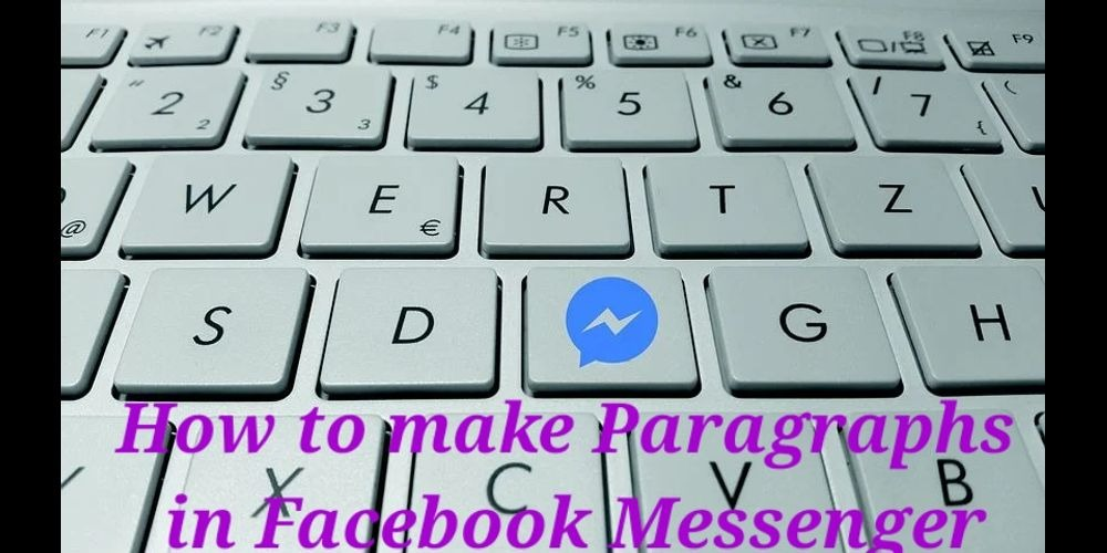 how to make paragraphs in facebook messenge