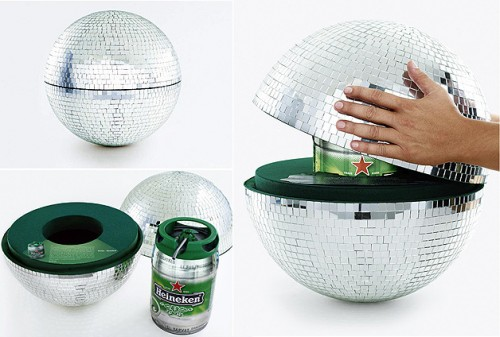 disco ball keg holder 500x337 Top 14 Super Bowl Party Gadgets