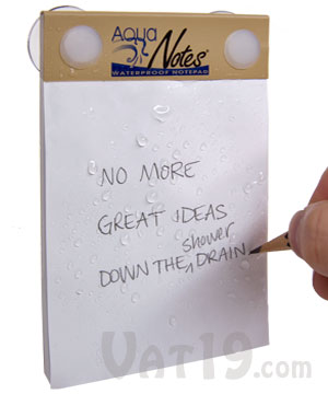 aquanotes waterproof notepad AquaNotes Waterproof Notepad for Shower Note Taking