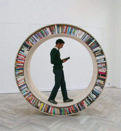 circular bookshelf Circular Bookshelf  Not Just for Well Read Hamsters Anymore
