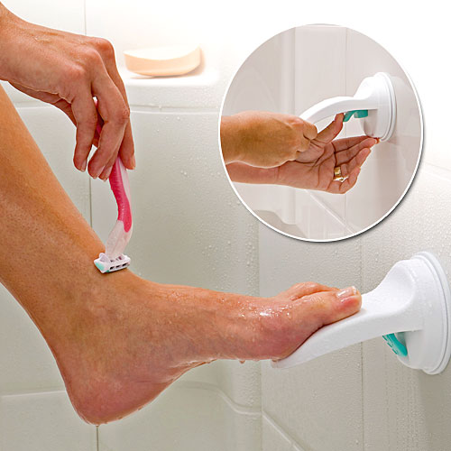 suction cup foot rest Suction Cup Shower Foot Rest
