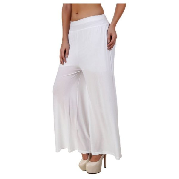 %white plazzo pant