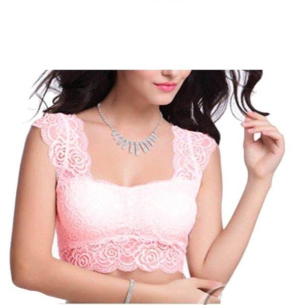 %pink crop top cum blouse