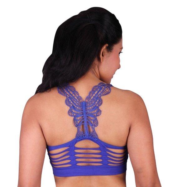 %butterfly rugged blue bralette