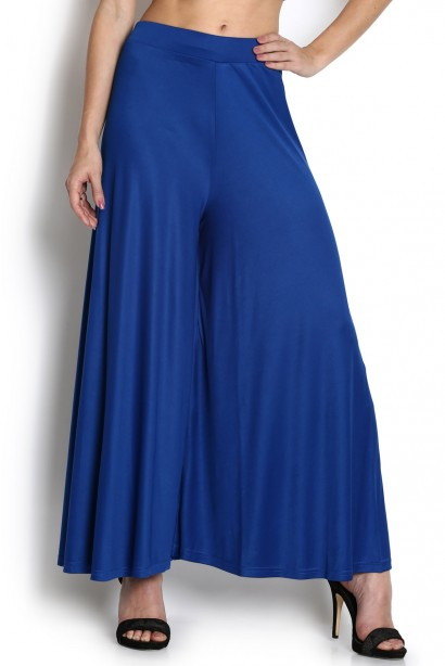 %royal blue plazzo pant