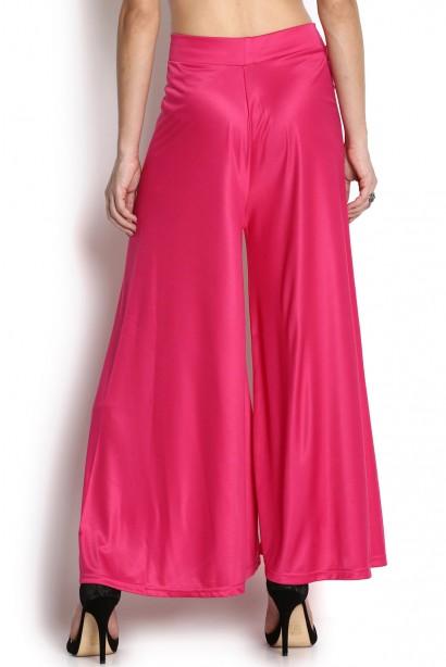 %Hot Pink plazzo pant