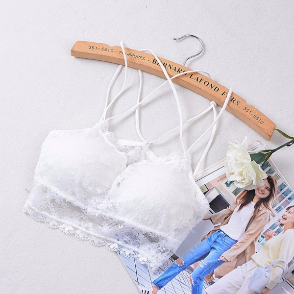 %white lace bra