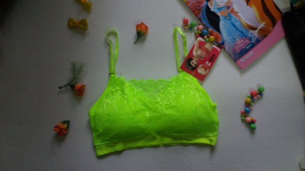 %lace green bra