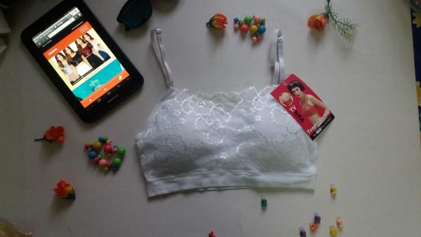 %lace white bra