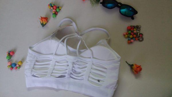 %rugged pyramid style racer white bra