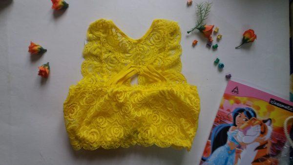%yellow net bra
