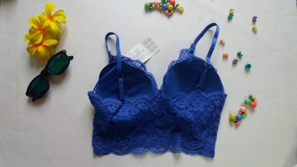 %blue lace bralette