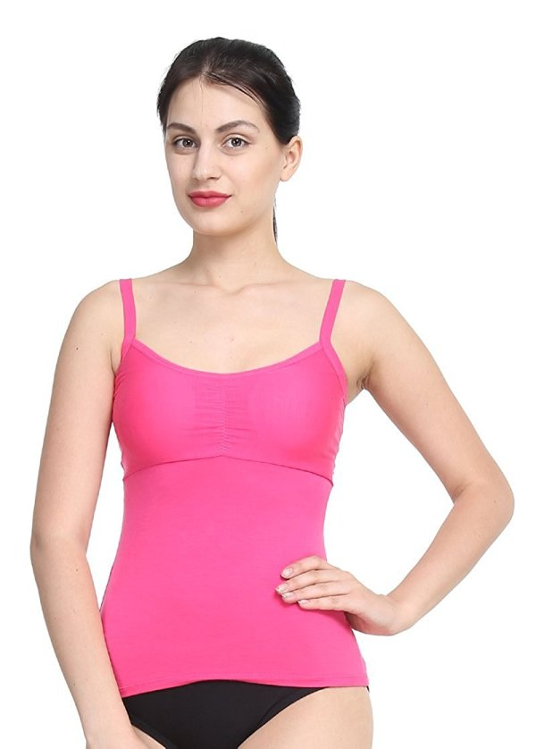 %back string cage pink top