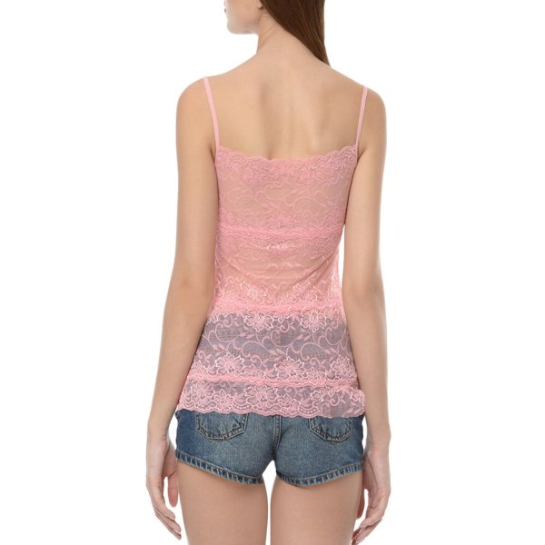%net lace pink top