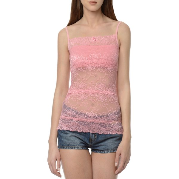 %pink lace top