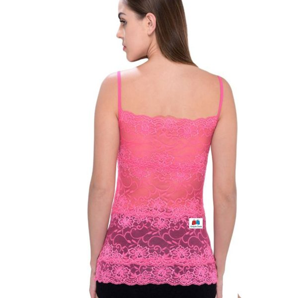 %net lace hot pink top