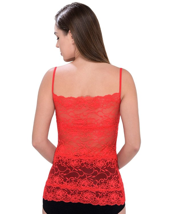 %red lace top