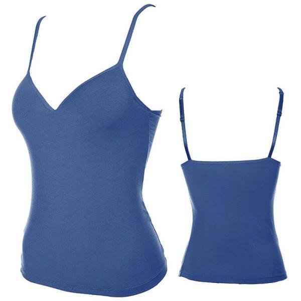 %blue camisole slip top