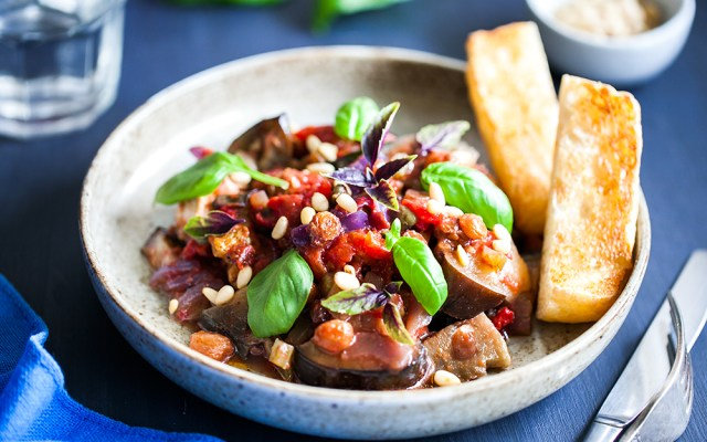 Caponata. Vegan, GF recipe.