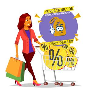 Vezi cele mai recente promotii si reduceri pe Crazy-Deals.ro