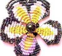 """Схема плетения цветка """"Анютины глазки"""""""