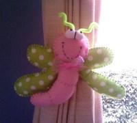 Украшение держатель штор - смешная бабочка