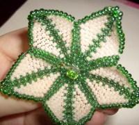 Схема плетения цветка из бисера