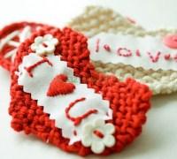 Сердце вязанное спицами ко дню св. Валентина