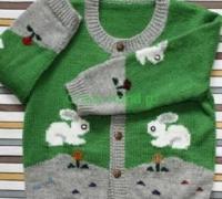 Детский жакет с зайчиками