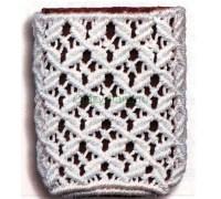 Схема плетения ажурной сеткой