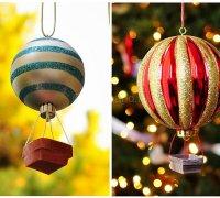 Новогодняя игрушка «воздушный шарик» своими руками
