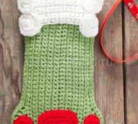 Рождественский носок - собачья лапка