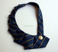Колье из галстука своими руками