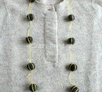 Войлочное ожерелье своими руками