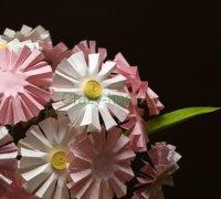 Как сделать бумажные цветы ромашки