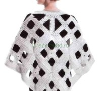 Современная геометрическая шаль своими руками