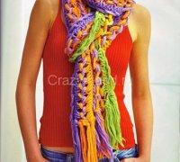 Яркий воздушный шарф