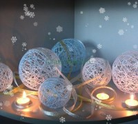 Новогодние шары из пряжи своими руками
