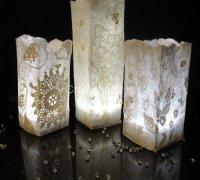 Шерстяные светильники «Морозные узоры» (абажур в технике нунофелтинг)