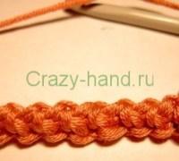 Мастер-класс вязания шнурочка «Гусеница» крючком