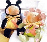 Куклы Тильда своими руками: пчелка и подружка цветочек Тео и Теа